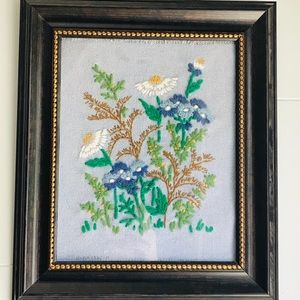 Vintage wildflower embroidery